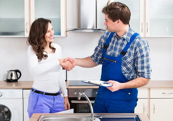 Plumbing company makes client happy
